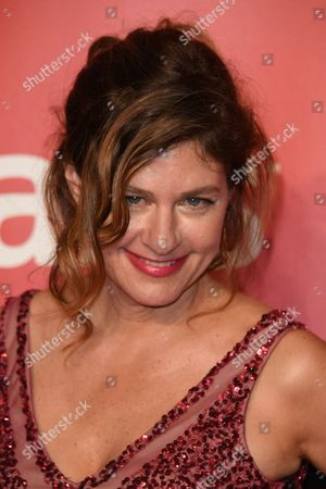 Louise Goffin arrives at the 2015 MusiCares Person of the Year event at the Los Angeles Convention Center on in Los Angeles