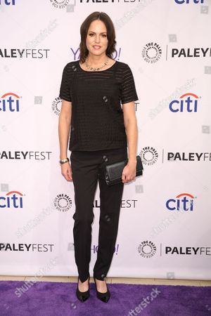 Jorja Fox arrives at the 2015 PaleyFest Fall TV Previews at The Paley Center for Media, in Beverly Hills, Calif