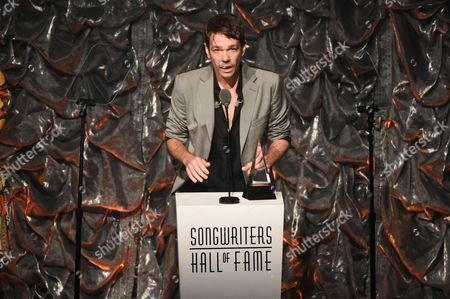 Honoree Nate Ruess accepts the Hal David Starlight Award at the 46th Annual Songwriters Hall Of Fame Induction and Awards Gala at the Marriott Marquis, in New York