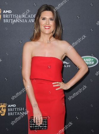 Charlotte Rothwell arrives at the BAFTA Los Angeles Britannia Awards at the Beverly Hilton Hotel, in Beverly Hills, Calif