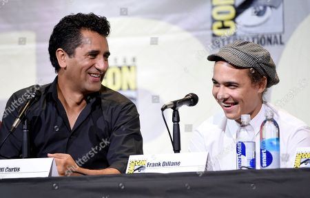 "Cliff Curtis, left, and Frank Dillane, attend the ""Fear the Walking Dead"" panel on day 2 of Comic-Con International, in San Diego"