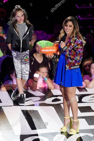 Brazliian skateboarder Leticia Bufoni accepts the Queen of Swag award during the 2016 Kids' Choice Sports Awards at Pauley Pavilion, in Los Angeles