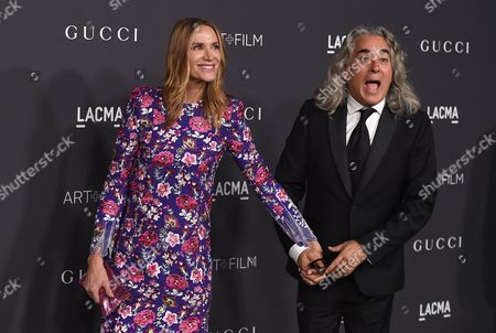 Kelly Lynch and Mitch Glazer arrive at the 2016 LACMA Art + Film Gala on in Los Angeles