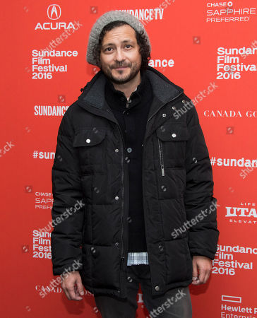 """Michael Ray Escamilla poses at the premiere of """"The Land"""" during the 2016 Sundance Film Festival, in Park City, Utah"""