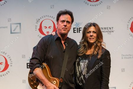 "Actress Rita Wilson and brother Chris Wilson arrive at the 23rd Annual ""Simply Shakespeare"" event at The Broad Stage on in Santa Monica, Calif"