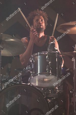 Jon Theodore of Queens of the Stone Age performs on stage during the 24th Annual KROQ Almost Acoustic Christmas at the Shrine Auditorium, on in Los Angeles