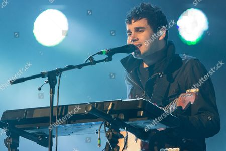 Rostam Batmanglij of Vampire Weekend performs on stage during the 24th Annual KROQ Almost Acoustic Christmas at the Shrine Auditorium, on in Los Angeles