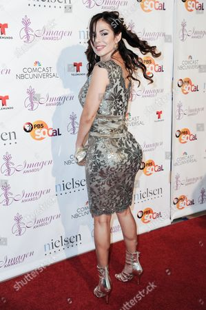 Mariann Gavelo arrives at the 29th annual Imagen Awards at the Beverly Hilton Hotel, in Beverly Hills, Calif