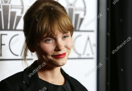 Agata Trzebuchowska, seen at 40th Annual Los Angeles Film Critics Associations Awards at InterContinental Los Angeles, Century City, in Los Angeles, CA