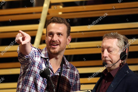 Stock Picture of Jason Segal, left, appears during rehearsals for the 88th Academy Awards in Los Angeles, . The Academy Awards will be held at the Dolby Theatre on Sunday, Feb. 28