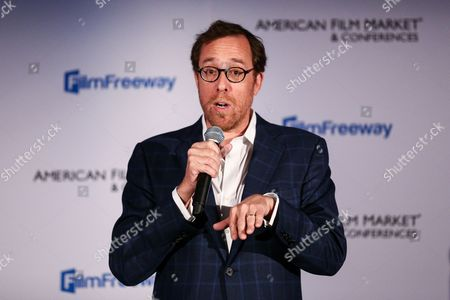 Rob Minkoff attends the GFM Blazing Samurai Presentation during the American Film Market held at the Loews Santa Monica Beach Hotel, in Santa Monica, Calif