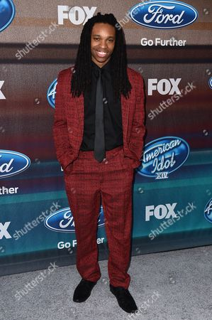 """Stock Image of Qaasim Middleton arrives at the """"American Idol XIV"""" finalists party at The District by Hannah An on Wednesday, Mar. 11th in Los Angeles"""