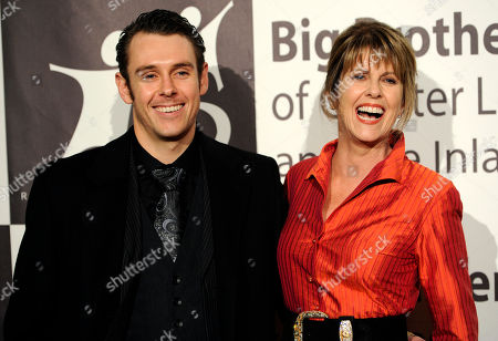 Actress Pam Dawber, right, poses with her son Sean Harmon at the Big Brothers Big Sisters of Greater Los Angeles' 2013 Rising Stars Gala at the Beverly Hilton Hotel on in Beverly Hills, Calif