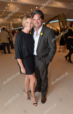 Tina Hobley, Oliver Wheeler are seen at the The Masterpiece Marie Curie Party in London on
