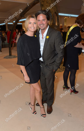 Stock Photo of Tina Hobley, Oliver Wheeler are seen at the The Masterpiece Marie Curie Party in London on