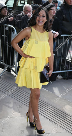 Nazaneen Ghaffar arrives for the TRIC Awards, that honour the best performers and programmes of the last year, at the Grosvenor Hotel in central London