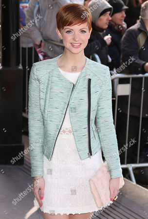 Lucy Dixon arrives for the TRIC Awards, that honour the best performers and programmes of the last year, at the Grosvenor Hotel in central London