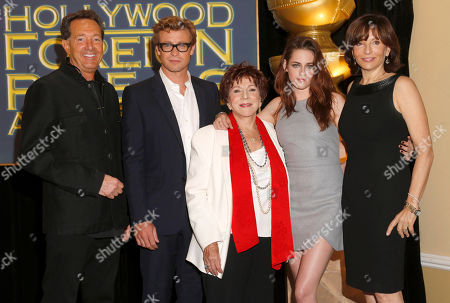 Barry Adelman, Simon Baker, HFPA President Dr. Aida Takla-O�Reilly, Kristen Stewart and Orly Adelson announce Jodie Foster as the recipient of the Cecil B. DeMille Award which will be honored at the 70th Annual Golden Globe® Awards in Beverly Hills, Calif
