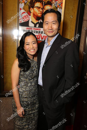 """Diana Bang and Charles Rahi Chun seen at Columbia Pictures World Premiere of """"The Interview"""", in Los Angeles"""