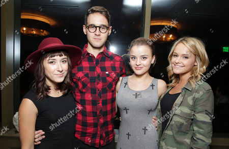 Christina Cher, P.J. Boudousque, Jordan Hinson and Cassi Thomson at Columbia Pictures' 'White House Down' Special Screening, on in Los Angeles