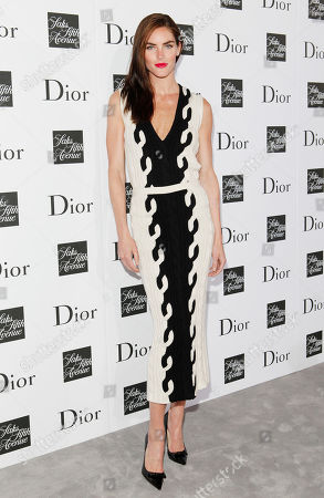 Stock Image of Hillary Rhoda attends a party to celebrate Dior's fall/winter 2013-2014 Collection at Saks Fifth Avenue, in New York