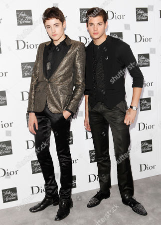 Harry Brant and Peter Brant II attend a party to celebrate Dior's fall/winter 2013-2014 Collection at Saks Fifth Avenue, in New York
