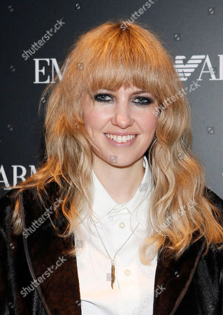 Singer Ladyhawke arrives to the Emporio Armani Opening Party on in New York