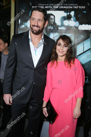 """Wade Barrett and Noomi Rapace at FilmDistrict's World Premiere of """"Dead Man Down"""" held at the ArcLight Hollywood, on in Los Angeles"""