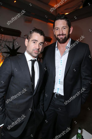 """Colin Farrell and Wade Barrett at FilmDistrict's World Premiere of """"Dead Man Down"""" held at the ArcLight Hollywood, on in Los Angeles"""