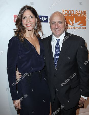 Lori Silverbush and chef Tom Colicchio attend the Food Bank For New York City Can-Do Awards Dinner at Cipriani Wall Street, in New York