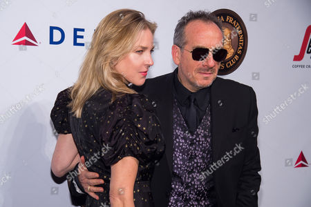 Diana Krall and Elvis Costello attend the Friars Club Entertainment Icon Award ceremony honoring Martin Scorsese at Cipriani Wall Street, in New York