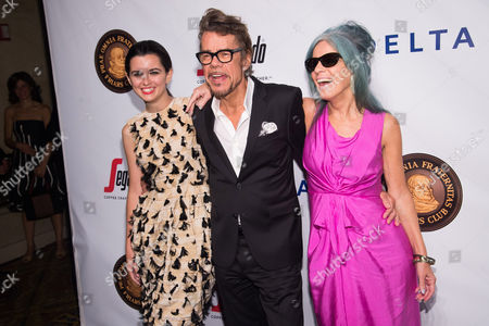 Stock Picture of Leah Hennessey, David Johansen and Mara Hennessey attend the Friars Club Entertainment Icon Award ceremony honoring Martin Scorsese at Cipriani Wall Street, in New York