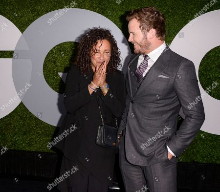 Stock Photo of Actor and honoree Chris Pratt, right, and actress Rae Dawn Chong attend the 2014 GQ Men of the Year Party at Chateau Marmont in Los Angeles on