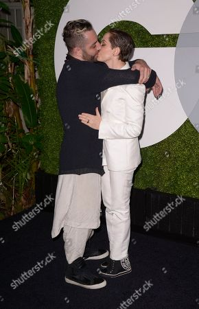 Stock Image of Actress Rose McGowan, and Davey Detail attend the 2014 GQ Men of the Year Party at Chateau Marmont in Los Angeles on