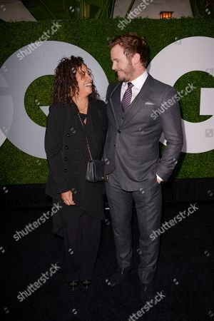 Stock Picture of Actor and honoree Chris Pratt, right, and actress Rae Dawn Chong attend the 2014 GQ Men of the Year Party at Chateau Marmont in Los Angeles on