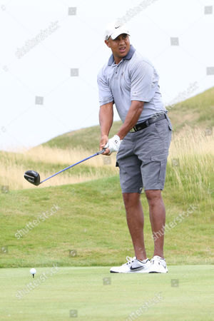John Starks participates in the Hank's Yanks 1st Annual Golf Classic at Trump Golf Links, in New York