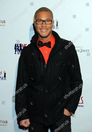 Actor Najee De-Tiege seen at Jared Dudley's Welcome to Los Angeles Scotch and Shave Reception with Pernod Ricard and Y.E.S Productions at Bar Marmont on in West Hollywood, California