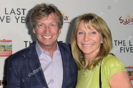 """Stock Photo of Nigel Lythgoe, left, and Bonnie Lythgoe arrive at the LA Premiere of """"The Last Five Years"""", in Los Angeles"""