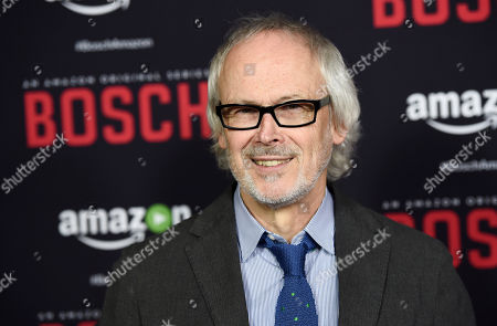 """Stock Picture of Pieter Jan Brugge, a cast member in """"Bosch,"""" poses at the season two premiere of the Amazon original series at the Pacific Design Center, in West Hollywood, Calif"""