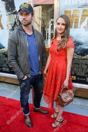 """Daniel Gillies, left, and Rachel Leigh Cook arrive at the LA Premiere of """"Max"""" at the Egyptian Theatre, in Los Angeles"""