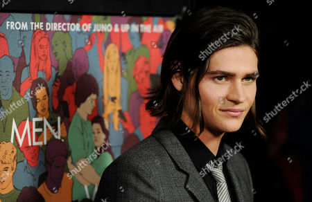 """Will Peltz, a cast member in """"Men, Women & Children,"""" arrives at the premiere of the film at the Directors Guild of America, in Los Angeles"""