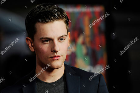 """Travis Tope, a cast member in """"Men, Women & Children,"""" arrives at the premiere of the film at the Directors Guild of America, in Los Angeles"""