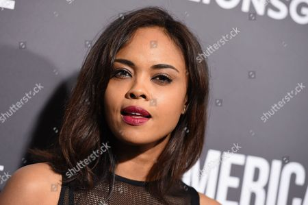 """Sharon Leal arrives at a special screening of """"American Pastoral"""" at the Samuel Goldwyn Theater, in Beverly Hills, Calif"""