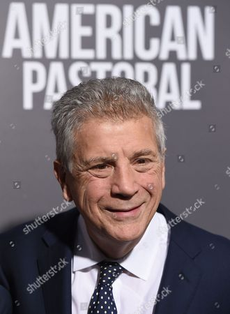 "Writer John Romano arrives at a special screening of ""American Pastoral"" at the Samuel Goldwyn Theater, in Beverly Hills, Calif"