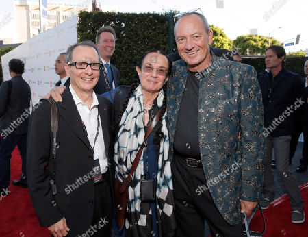 Chairman of the Leica Camera AG Supervisory Committee Roger Horn, Mary Ellen Mark and Leica Chief Executive Officer Alfred Schopf attend the Leica Los Angeles Grand Opening, on Thursday, June, 20, 2013 in West Hollywood, California