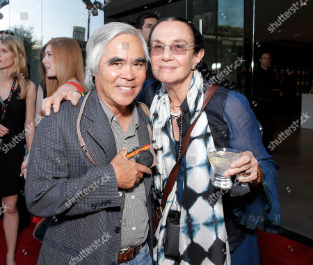 AP photographer Nick Ut and Mary Ellen Mark attend the Leica Los Angeles Grand Opening, on Thursday, June, 20, 2013 in West Hollywood, California
