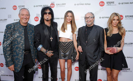 Leica Chief Executive Officer Alfred Schopf, Photographer Nikki Sixx, Courtney Bingham, Leica Deputy Chairmain of the Supervisory Board Dr. Andreas Kaufmann and guest attend the Leica Los Angeles Grand Opening, on Thursday, June, 20, 2013 in West Hollywood, California