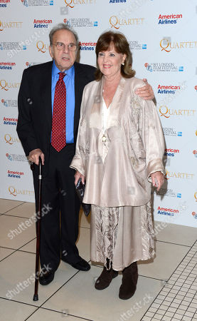 Ronald Harwood, Pauline Collins poses at London Film Festival American Airlines Gala -Quartet at Odeon West End on in London