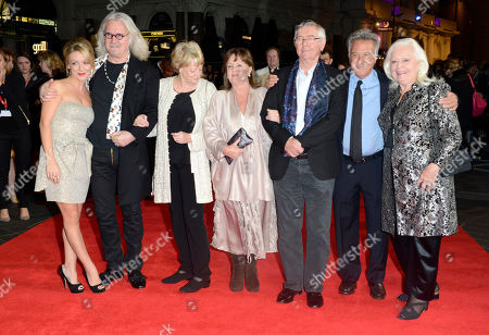 Sheridan Smith, Billy Conolly, Dame Maggie Smith, Pauline Collins, Tom Courtenay, Dustin Hoffman, Dame Gwyneth Jones poses at London Film Festival American Airlines Gala -Quartet at Odeon West End on in London