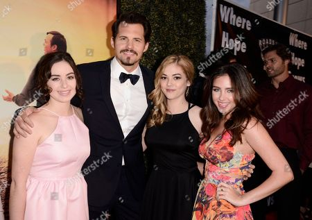 Sarah Gilman, Kristoffer Polaha, McKaley Miller and Ryan Newman seen at Los Angeles Premiere of Roadside Attractions/Godspeed Pictures 'Where Hope Grows' at Arclight Cinemas Hollywood, in Los Angeles, CA
